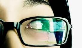 occhi vista computer