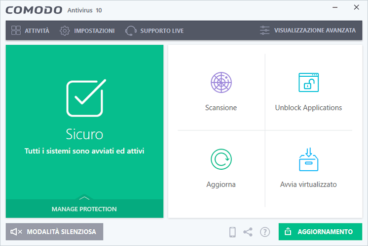 antivirus potente italiano