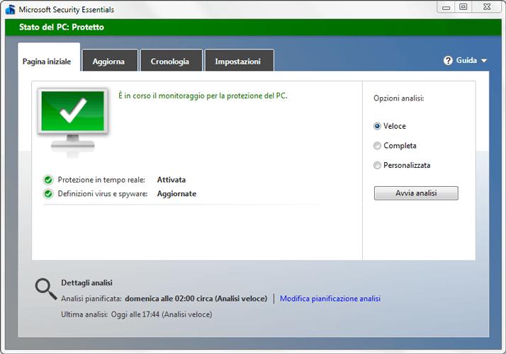 antivirus microsoft security essentials