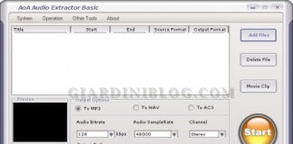 Estrarre audio da 3GP, ASF, AVI, DAT, FLV, MOV, MP4, MPEG, MPG, WMV