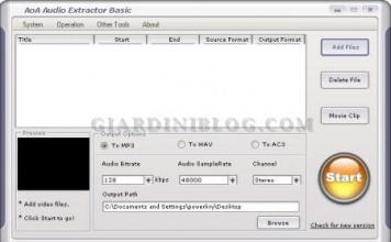 Estrarre audio da 3GP, ASF, AVI, DAT, FLV, MOV, MP4, MPEG, MPG, WMV! Estrarre traccia audio da un video