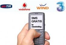 sms gratis tim wind vodafone 3