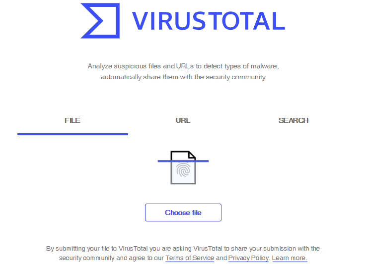 scan file virus total