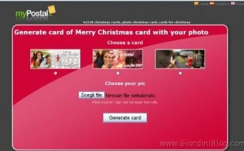 Cartolina di Natale con immagine personale da Ecardsphoto.com