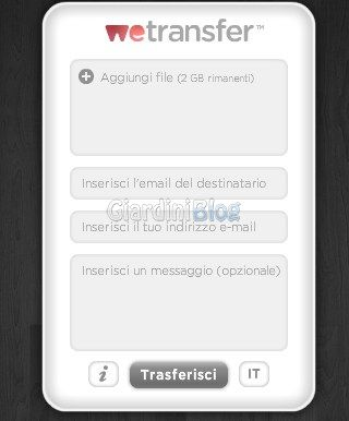 inviare mail anonime wetransfer