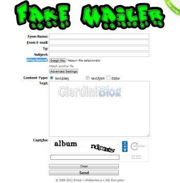 fake mailer per mandare mail anonime con allegati