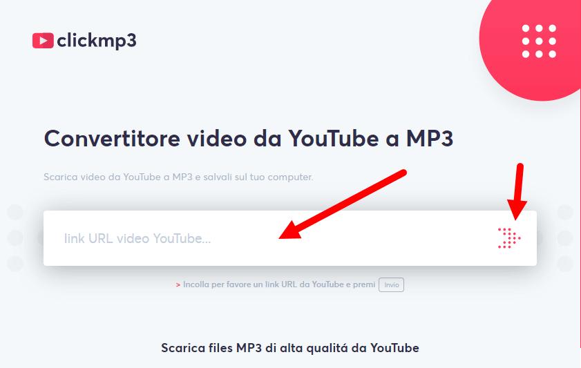 scaricare musica da youtube con clickmp3