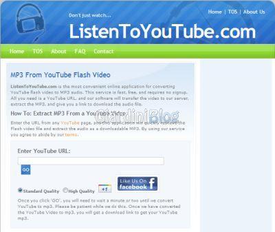 scaricare musica da youtube con listentoyoutube