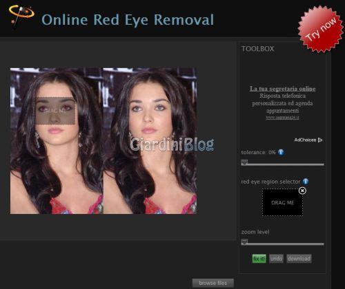 Come correggere gli occhi rossi Fix Red Eyes