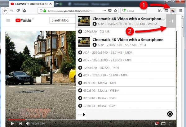 estensione firefox per scaricare video youtube
