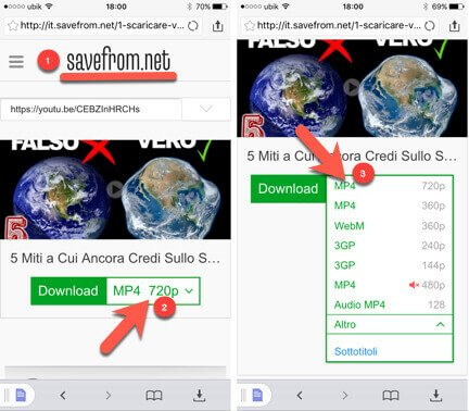 usare app per scaricare video da youtube con iPhone (AppStore)
