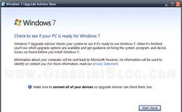 Il mio computer è pronto per Windows 7?