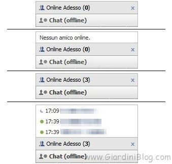 Amici online Chat di Facebook