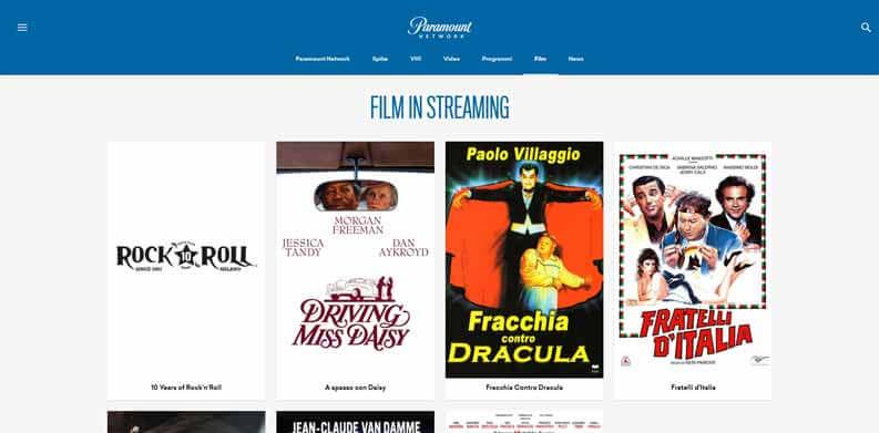 film streaming gratis paramount network