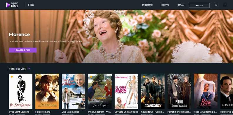 film streaming gratis mediasetplay