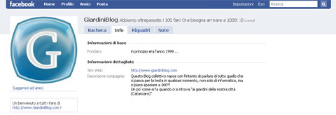 giardiniblog fan page facebook