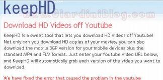 salvare video youtube