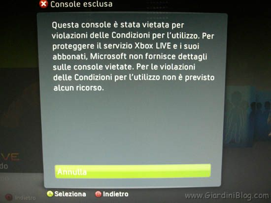 Xbox Live Ban