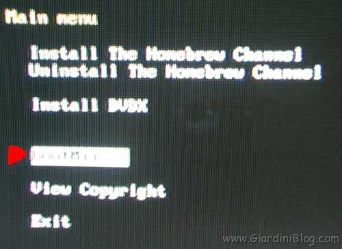BootMii menu Hackmii Installer