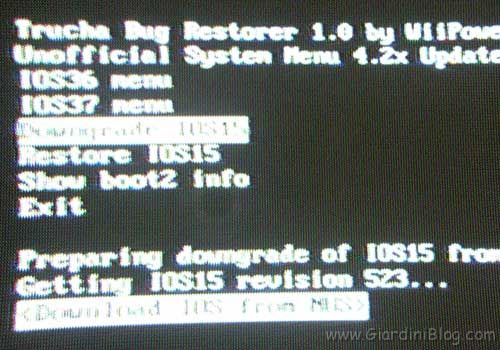 Downgrade IOS15