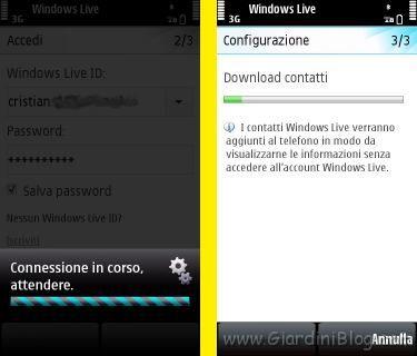 Login Nokia 5800 msn messenger live italiano