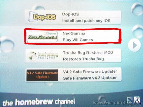NeoGamma HomeBrew Channel