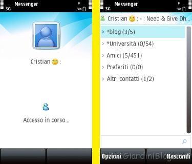 Nokia 5800 msn live