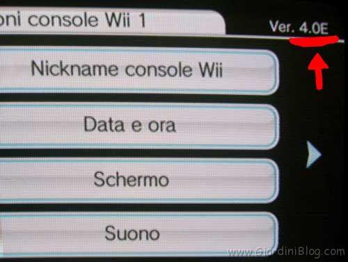 Quale versione Wii