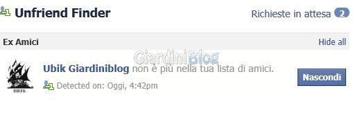 scoprire chi ti ha cancellato da facebook