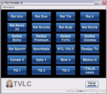 TV in streaming su Windows TVLC