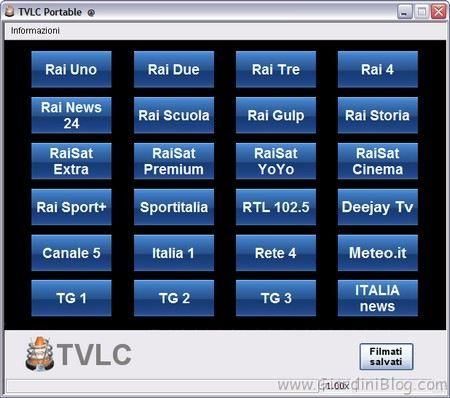 TV in streaming su Windows TVLC