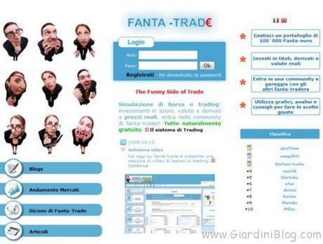 Giocare in Borsa con Fanta-Trade