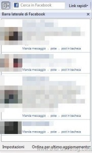 barra laterale facebook toolbar
