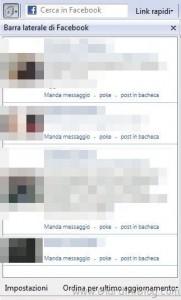 barra laterale facebook toolbar
