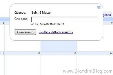google calendar impostazione data