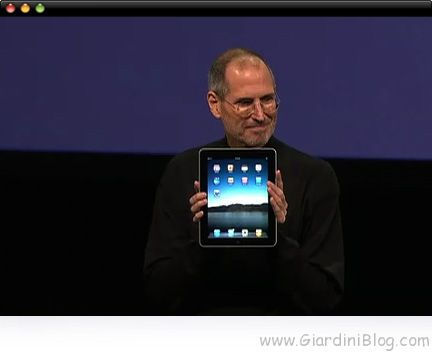 Steve Jobs presenta iPad