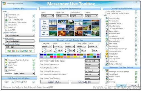 messenger live toolbox