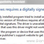 Windows 7 Digital Driver Signature