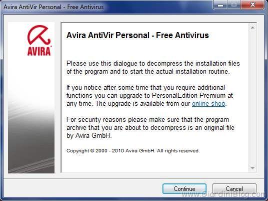 avira antivir installazione