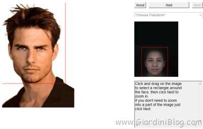 selezione viso da invecchiare