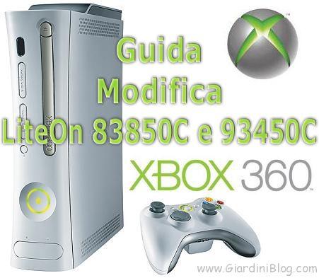 xbox modifica liteon 83850C 93450C