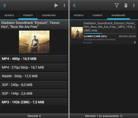 scegliere il formato in cui scaricare la musica da youtube