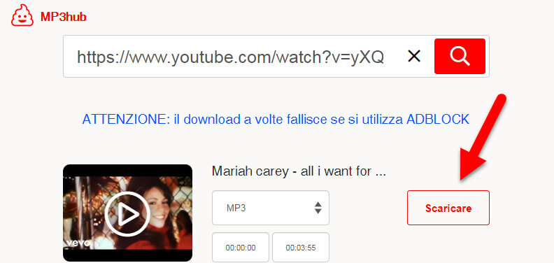 scaricare musica da youtube mp3hub