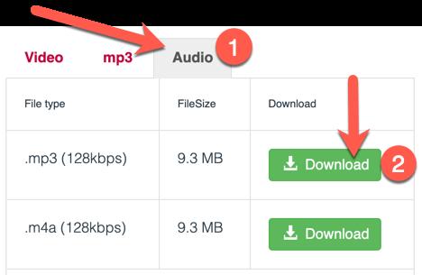 Selezionare Il Formato MP3 O M4A