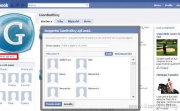 Suggerisci agli amici di Facebook una pagina o un gruppo