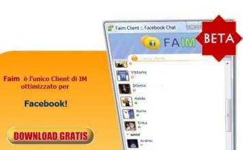 Faim Nuovo Client Chat Facebook, per chattare su Facebook senza problemi