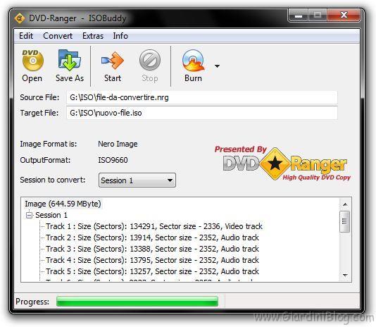 isobuddy - convertire immagine cd dvd