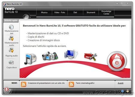 nero gratis per masterizzare cd dvd