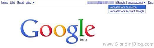google-istant-impostazioni