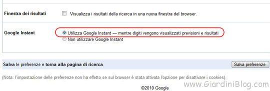 google-istant